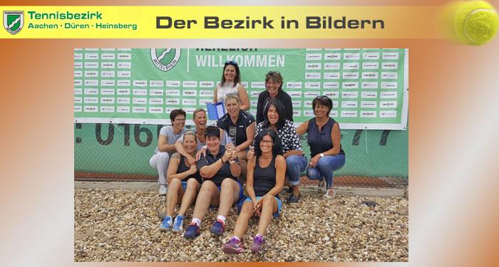 Bezirkspokal - D40 Siegerinnen und Zweite BW Jülich - gute Stimmung